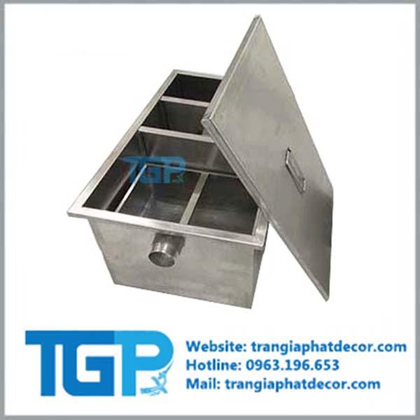hộp lọc mỡ - bẫy mỡ - KT 600x400x300 mm - 70 lít